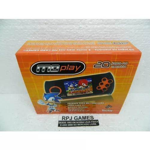 Mega drive portatil md play pronto p/ jogar c/ caixa manual