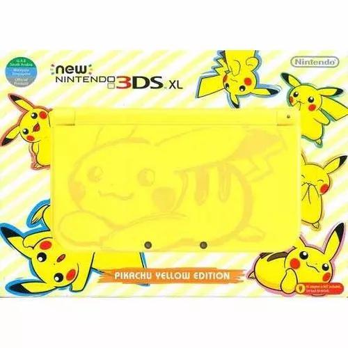 New nintendo 3ds xl pikachu edition novo lacrado com nf