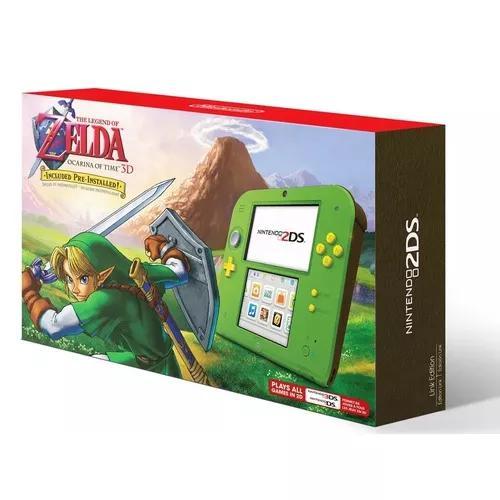 Nintendo 2ds edição zelda ocarina of time 3d verde green