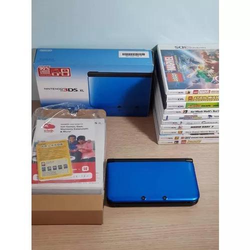 Nintendo 3ds xl + acessórios + 10 jogos + fone de ouvido