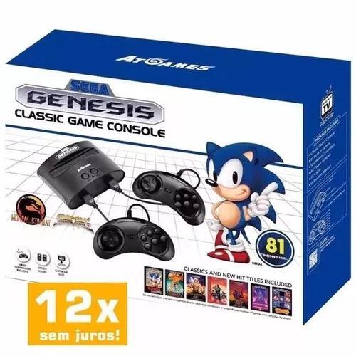 Sega genesis classic game mega drive c/81 jogos p. entrega