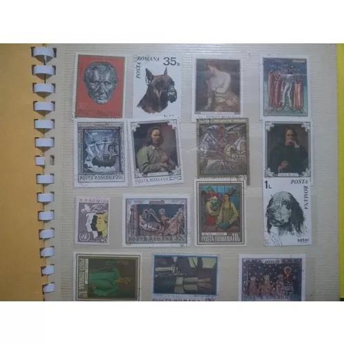 Album de selos antigos para colecionadores