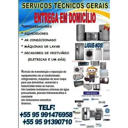 Ar condicionado instalação, refrigeração e linha branca