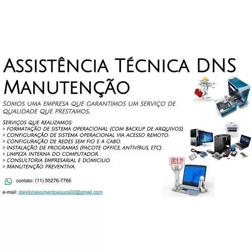 Assistencia tecnica de computadores e notebook