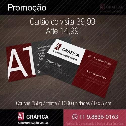 Cartões de visita r$39,99