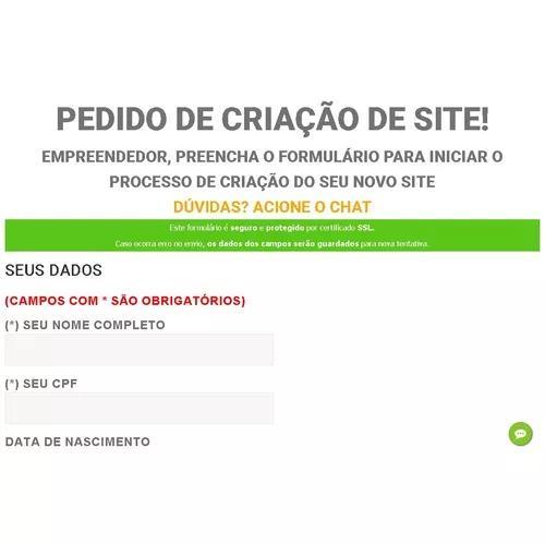 Criação de site grátis modelo onepage