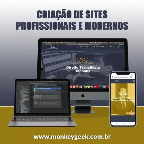 Criação de sites profissionais + hospedag
