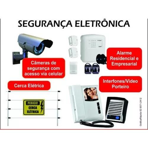 Instalação e manutenção de câmeras e alarmes