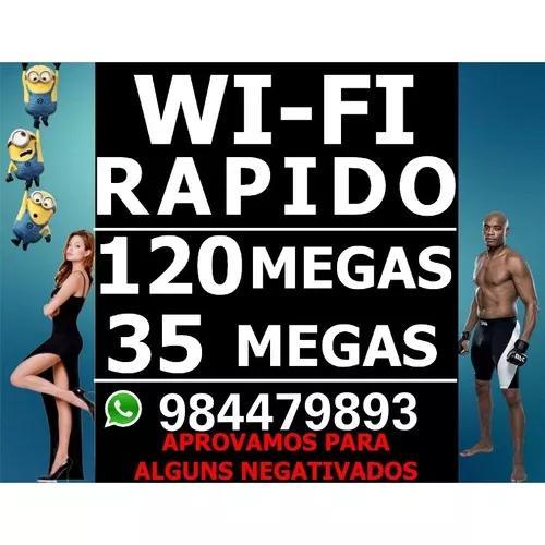 Internet wifi com 35 megas + tv hd r$153