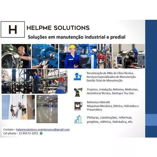 Manutenção industrial, montagens e manutenção preditiva