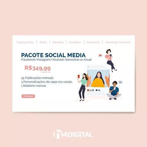 Marketing digital - pacote social media (facebook/instagram)