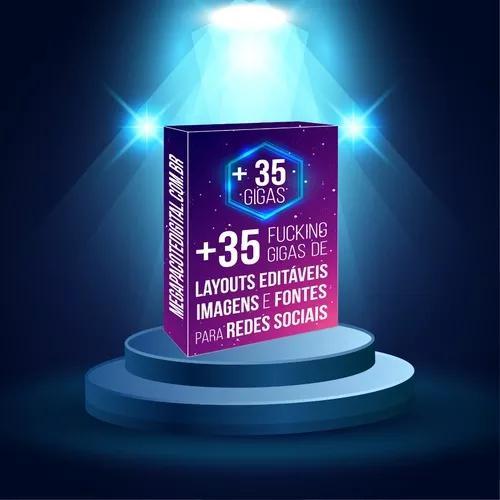 Mega pacote digital + 35 gigas de layouts, fontes e png