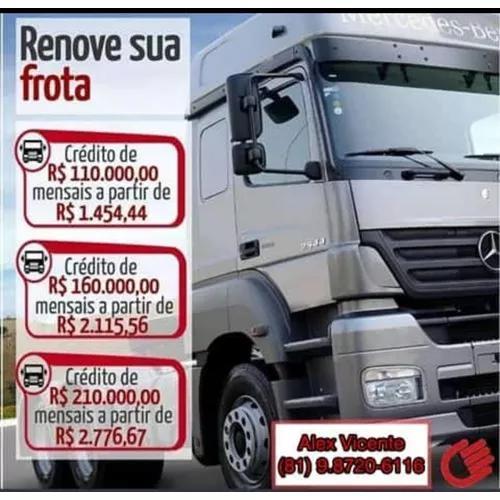 Seu caminhão com parcelas a partir de 1.454,00 r$