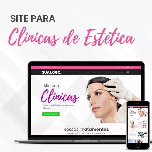 Site para clínica de estética + hospedag