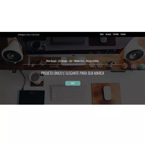 Sites profissionais personalizados responsivos html5 css3