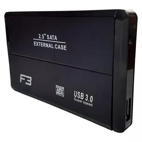 Case externa hd note sata 2.5 usb 3.0 alumínio f3 140