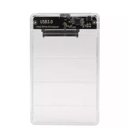 Case hd externo transparente sata 2.5 usb 3.0 notebook