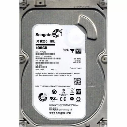 Hd interno para desktop 1tb 1000gb seagate samsung wd recer