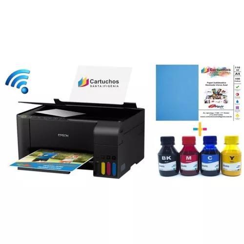 Impressora epson sublimática inktec l3150 + 100 fls papel