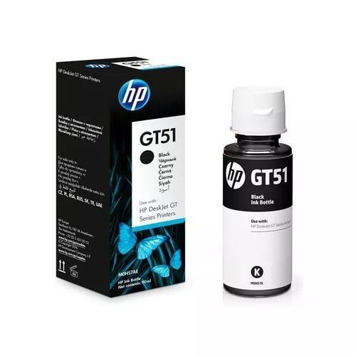Refil tinta hp gt51 preto m0h57al gt 5822 - original à