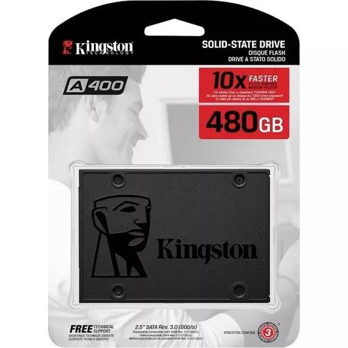Ssd kingston 480gb sata 6gb/s lacrado a400 500mb/s