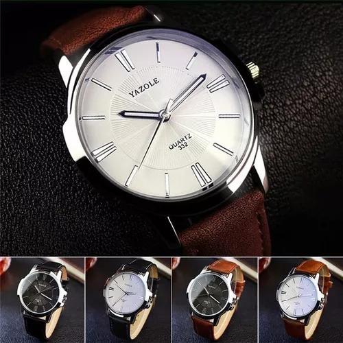 Relógio masculino yazole quartzo romano todos barato pulso