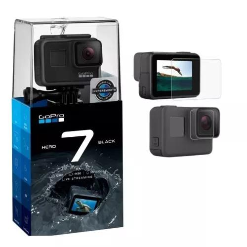 Câmera digital gopro hero 7 black + película protetora kit