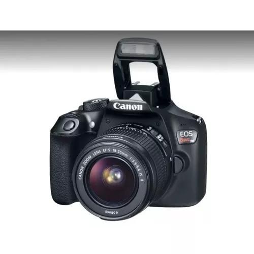 Camera canon t6 com lente 18-55mm + bolsa +32gb usado