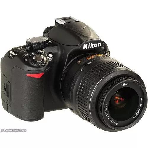 Camera nikon d3100 lente 18-55mm