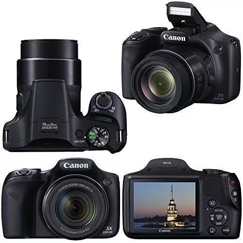 Câmera canon sx530 hs zoom 50x wi-fi