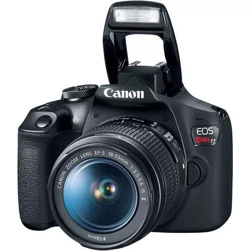 Câmera fotografica canon t7 com lente 18-55mm