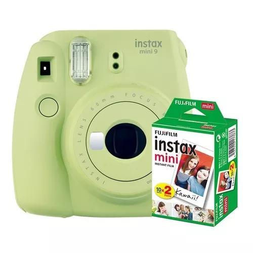 Câmera instax mini fuji 9 instantânea polaroid + 10foto +