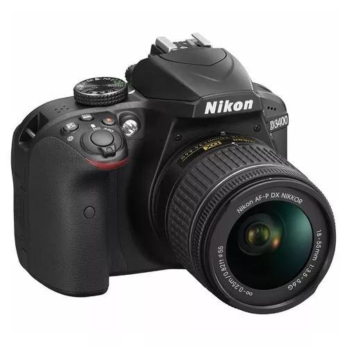 Câmera nikon d3400 d - 3400 c/lente 18-55 24.2 mp