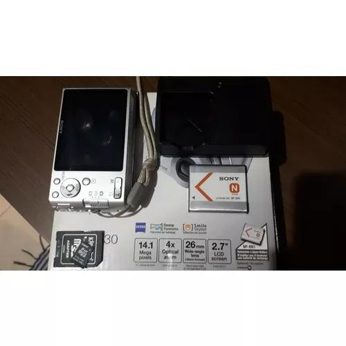 Câmera sony cyber-shot dsc-w530, 14.1 mega pixels