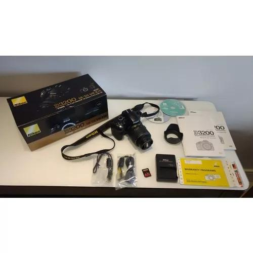 Nikon d 3200 + lente original 18 - 55 mm s