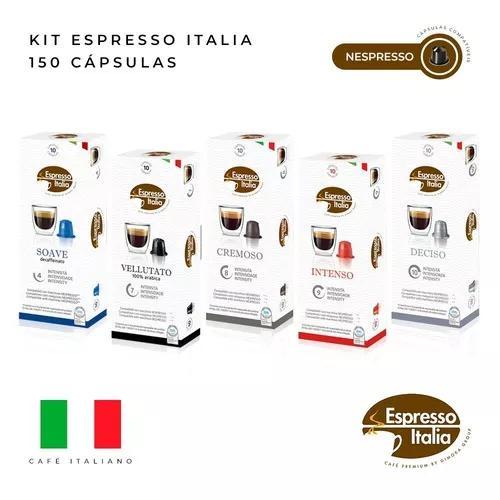 150 capsulas café compatível nespresso - espresso italia