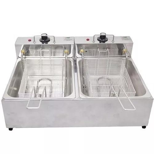 Fritadeira elétrica 2 cubas 10 litros 220v a mais vendida!