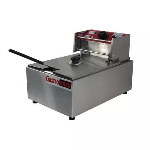 Fritadeira elétrica industrial 6 l com tampa - gastromixx