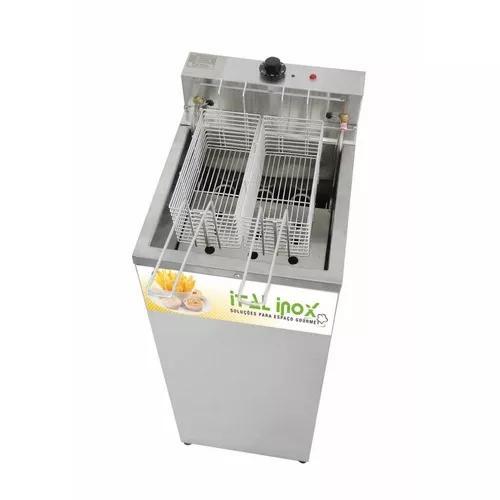 Fritador elétrico água e óleo gabinete 18 lts inox 5000 w