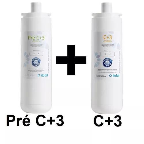 Kit refil pré c+3 + c3 p/ purificador pdf/ pfn ibbl oficial
