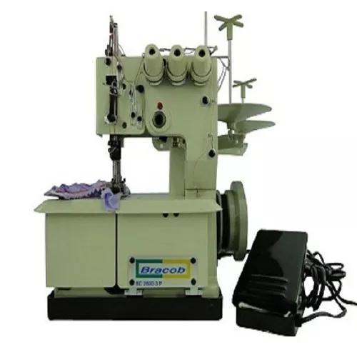 Máquina de costura galoneira 3 agulhas bracob portátil