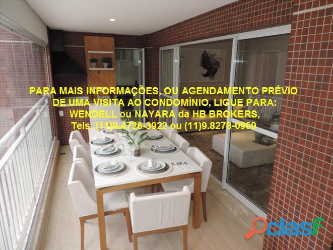 Pronto para morar Apartamento com 127 m 3 suítes 2 vagas demarcadas Family Garden Chácara Inglesa