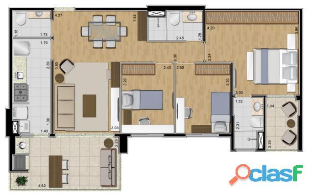 Torre única Apartamento com 96 m 3 dorms 1 suíte 2 vagas Ideale SBC 8