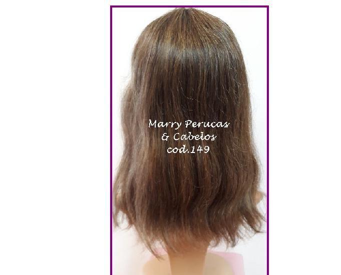 Peruca de cabelo natural humano cod.149