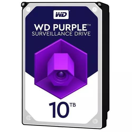 Hd interno western digital purple 10tb sata3 6gb/s wd100purz