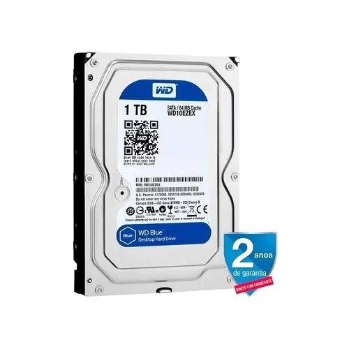 Hd western digital 1tb blue sata iii 7200rpm 64mb p/ pc