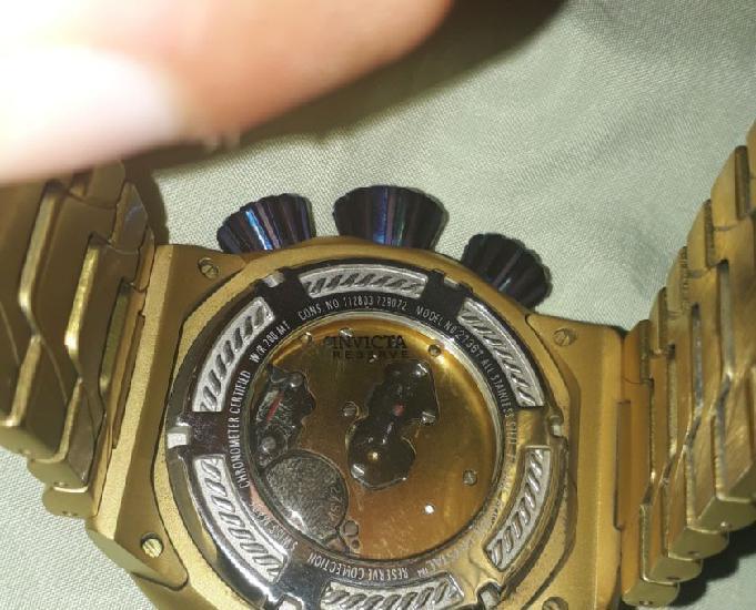 Relógio invicta bolt modelo 21361 dourado azul