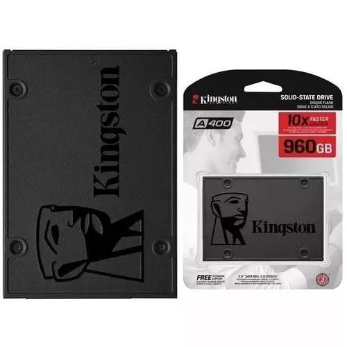 Ssd 960gb kingston a400 sata 3 6gb/s pc notebook novo ssdnow