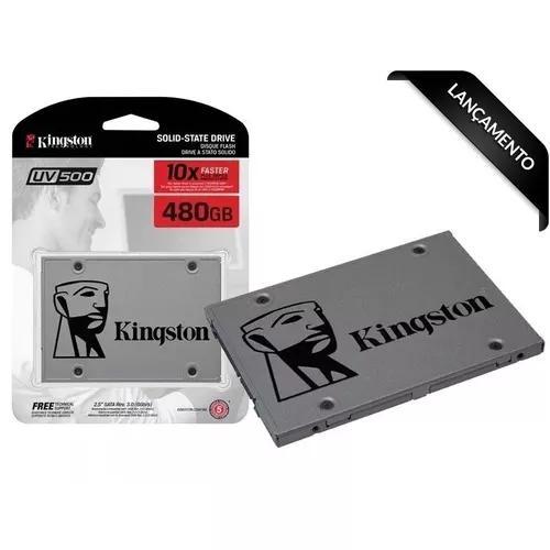 Ssd kingston 480gb uv500 2.5 sata nand3d - suv500/480g c/ nf