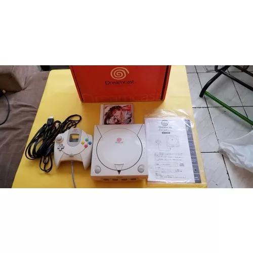 Console sega dreamcast japonês. serial é o mesmo da caixa.